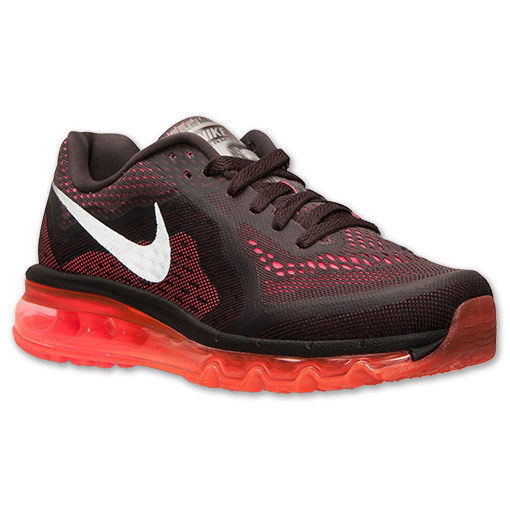 Primary image for Women's Nike Air Max 2014 Running Shoes, 621078 200 Size 7.5 Dark Volt/Orange/Re