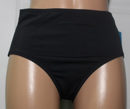 NEW Anne Cole 16MB321 Black High Waist Swimwear Hipster Bikini Bottom XS... - $14.80