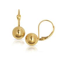 Round Diameter Ball Dangle Drop Stationary Leverback Earrings 14K Yellow... - $308.19+
