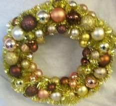 "NEW CHRISTMAS WREATH Shatter Resistant Ornaments BRONZE/GOLD 16"" diameter - $19.75"