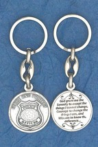 POLICE Key Chain Serenity Prayer Pewter Protect and Serve - $4.99