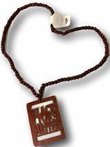 Black Lives Matter Afrocentric Beaded Necklace (Dark Brown) - $19.79