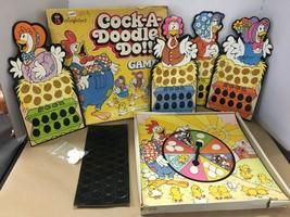 Rare Vintage Colorforms 1976 Cock-A-Doodle-Do Game Chicken Game Complete - $34.64