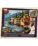 Dimensions Paint Works Paint By Number Kit 91425 Lakeside Village. 20x16. - $19.24