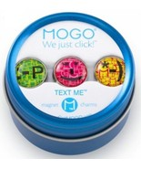 MOGO Magnetic Charms TEXT ME Round Tin with 3 Charms Brand New - $2.92