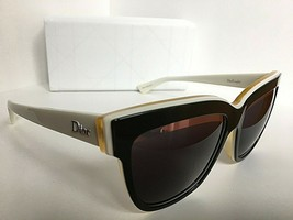 New Christian DIOR Graphic  39C48 White Olive Cats Eye Women's Sunglasses Italy - $389.99