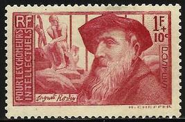 1938 Auguste Rodin France Postage Stamp Catalog Number B58 MNH