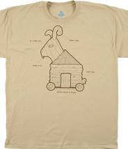 Monty Python & Holy Grail Trojan Rabbit Plans Tan T-Shirt NEW UNWORN - $14.50