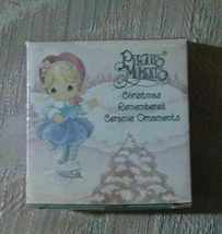Precious Moments Christmas Remembered Ceramic Tree Ornament 2001 Giftco - $11.87