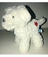 "Manhattan Toy Puppy Dog White Red Heart Plush Baby Voyagers Maltese 8"" - $29.02"