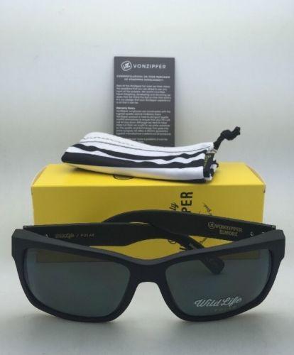 d7dbe7b9b9 Polarized VONZIPPER Sunglasses VZ ELMORE Black Satin Frame w  WildLife Grey  Lens