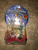 RARE ELECMAN VS WOODSHIELD STYLE MEGAMAN FIGURES NT WARRIOR BATTLECHIP a... - $28.04