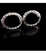 Vintage Sterling Cufflinks - Black tuxedo sets -Silver Cuff links - Wedd... - $175.00