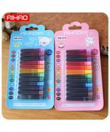 Aihao® 12 Colors/lot Disposable Ink Sac Cartridge Refills  Fountain Call... - $2.68