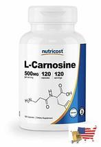 Nutricost L-Carnosine 500mg, 120 Capsules - Veggie Capsules, Non-GMO - $54.42