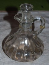 Vintage Clear Glass Oil Or Vinegar Cruets  Bottle - $14.01