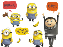 Roommates Minions The Rise Of Gru Wall Decal Set RMK4346SS