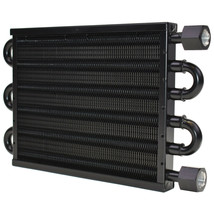 "A-Team Performance Aluminum Tube & Fin Transmission Oil Cooler, 15 1/2"" x 5"""