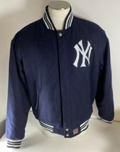 JH Design New York Yankees MLB Reversible Jacket Wool Blend Coat Baseball 2XL - $98.99