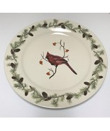 Sonoma Home Goods Red Cardinal Bird in Winter Christmas Serving Plate Pi... - $34.99