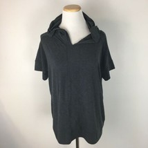 Gap Fit Women's Breathe Yoga Workout Short Sleeve Gray Hoodie Shirt Size Small  - $14.84