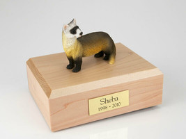 Ferret Figurine Wildlife Cremation Urn Available in 3 Different Colors &... - $169.99+