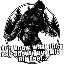 Sasquatch T-shirt Big Foot Guys funny novelty graphic printed 100% cotton tee image 2
