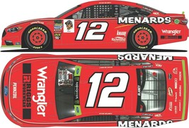 Ryan Blaney 2018 #12 Wrangler Riggs Workwear Ford Fusion 1:64 ARC - NASCAR - $7.91
