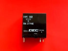 Type DG1, 12VDC Relay, 16A 277VAC, Dec Brand New!! - $5.94