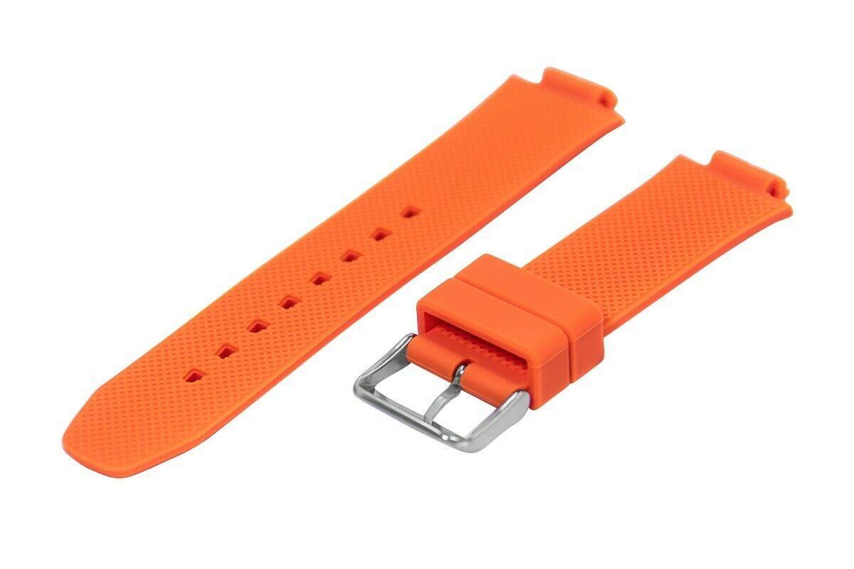 Nautica Men's N14674G | A14674G NST 700 Chrono Orange Rubber Watch Band