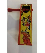 1928 New Years Eve noisemaker Kirchhof tin noise maker with couples dancing - $9.50
