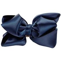 Bowknot Hair Pins Silks And Satins Hairpins Pinch Cock Hair Clips(Navy Blue) image 2