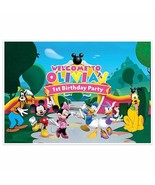 Mickey Mouse Clubhouse Birthday Banner Personalized Party Decoration Cak... - $22.28+