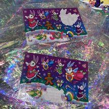 FULL Vintage Lisa Frank Holiday Christmas Silly Senders Kitten Sticker Sheets image 6