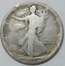 1916S Walking Liberty Half Dollar 90% Silver Coin Lot# E 67