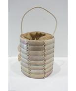 GIORGIO ARMANI Circular Iridescent Mother of Pearl Drawstring Handbag $1... - $553.31