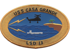 "5"" USS NAVY CASA GRANDE LSD-13 EMBROIDERED PATCH - $16.24"