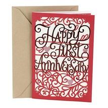 Hallmark 1st Anniversary Card Happy First Anniversary - $6.35