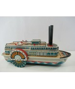 Queen River Steamboat Tin Litho Battery Operated Modern Toys Japan WORKS! - $67.54