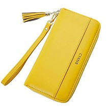 Cyanb Women Wallets Tassel Bifold Ladies Cluth Wristlet Wrist strap Long... - $21.59