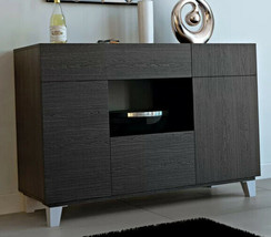 Modern Sideboard Black Dining Buffet Storage Cabinet Console Table Stand... - $359.87