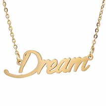 AIJIAO 18k Gold Plated Script Nameplate Name Necklace Personalized Choke... - $14.22
