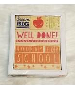 5 pc Wooden Classroom Rubber Stamps SET Teacher Supplies Well Done Dream... - $3.67