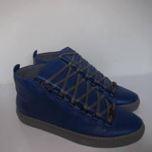 1674 10 C Shoes US New Blue Arena Sneakers Size Marked 43 Leather Balenciaga E OpCdqFxWwp