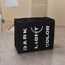 Portable Three Lattice Large Capacity Laundry Basket Black - $12.82
