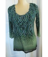 Axcess Liz Claiborne lined  stretch 3/4 sleeve Top size M - $5.99