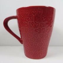 STARBUCKS Coffee Mug 2009 Design House Stockholm Red Heart Imprint VALEN... - $29.99