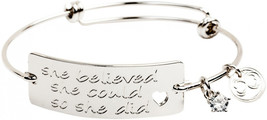 "Expandable Inspirational Jewelry Women Charm Stackable Bracelet, ""She Be... - $135.46"