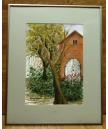 Kay Bush Framed Water Color Painting 20 1/2in x 16 1/2in x 1in  * Glass ... - $43.42