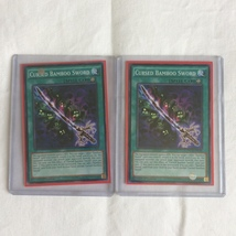 2x Cursed Bamboo Sword - NECH-EN068 - Common - 1st Edition - Used Good Yugioh - $15.29
